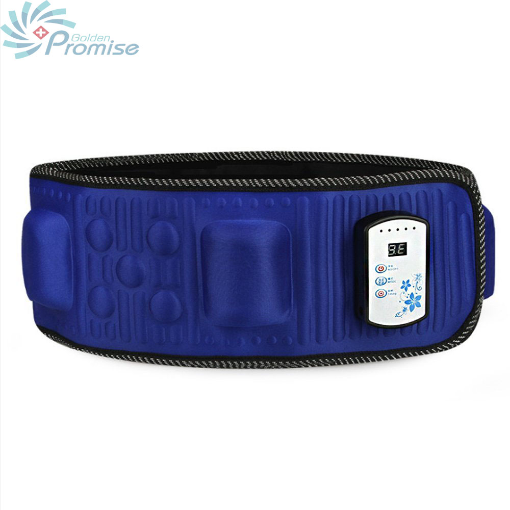 Portable Electric Vibration Massage Belt Exercise Slimming Detox Fat Burning Waist Belt Pelvic Blood Circulation Unisex elastic thin slimming belt magic waist abdomen massage belt black