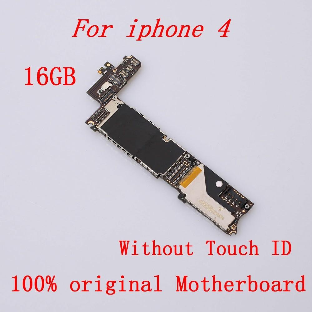 100%Original Mainboard For IPhone 4  16GB Unlocked  Good Working Mainboard 16GB Logic Board
