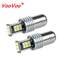 VooVoo Car LED Stop Lights 980Lm 1157 P21/5W BAY15d 3030 24SMD Car Brake Reverse Lamps Rear Fog Parking Bulb 12V Car Accessories(China)