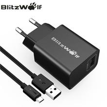Blitzwolf QC3.0 универ S al USB Зарядное устройство Путешествия стены Зарядное устройство адаптер для iPhone 7 6S 6 мобильного телефона Зарядное устройство для Сэм S Унг с кабелем