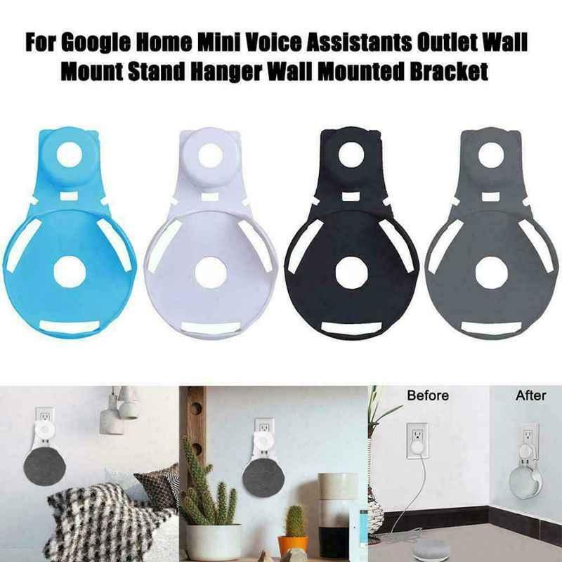 Soporte de montaje de pared de salida soporte de suspensión para Google Home Mini asistente de voz accesorios de altavoz inteligente #723
