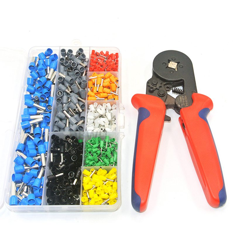 800 Wire Crimping Tool Kit Awg 10 22 Terminal Connector Sleeves Contractors Ferrule Crimper Pliers For Stripper Wiring Project|Terminals| |  - title=