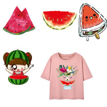 Watermelon Women's Clothing Clothes Sticker Patches DIY T-shirt Ironing Appliques Vinyl Heat Transfer Stickers Thermal Press