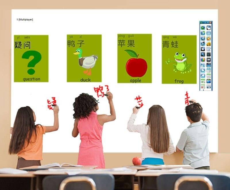 Короткофокусный Multi Touch цифровая смарт-доска портативный инфракрасная интерактивная доска для презентации
