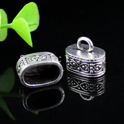 18223*10PCS 18mm Flower Beads Cap End For Tassels Charms Alloy Tibetan Silver