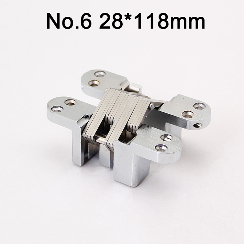 2PCS 28x118mm Stainless Steel Hidden Door Hinges Invisible Concealed Cross Hinges Bearing 50KG For Folding Door 1pcs hidden hinges size 28x118mm bearing 50kg invisible concealed cross door hinge stainless steel hinge for folding door kf1063