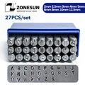 ZONESUN металлический штамп 2/3/4/6 мм штамп с буквенным принтом  штампованный штамповочный штамп из A-Z стали