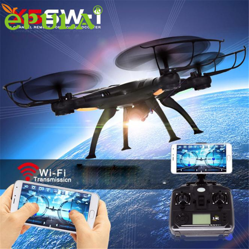 X5SW-1 Wifi FPV RTF 2.4G 4CH RC Black quadcopter Camera Drone with HD Camera UAV6