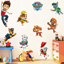 Paw Patrol Wall 3d Wallpaper Sticker Kids Room Stickers Decoration PVC Action Figure Children Anime for Wall Wallpaper 2A48