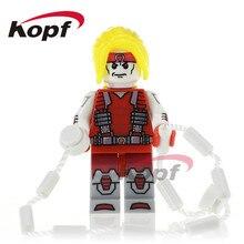 Única Venda Super Heróis Omega Domino o Homem Radioactivo Union Jack Bonecas Modelo Blocos de Construção de Tijolos Brinquedos para as crianças PG292