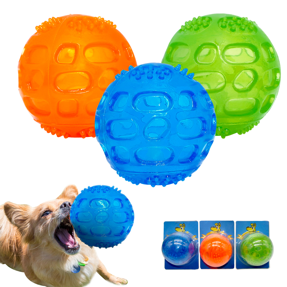 Dog Toy Pet Rubber Balls Toys Squeaking Interactive Puppy