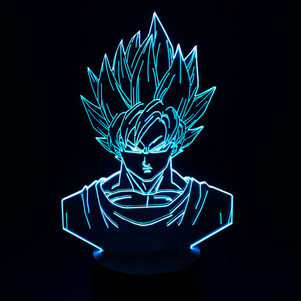 dragon ball 3d table lamp cool nightlights new year decoration kids lampade gifts lighting led