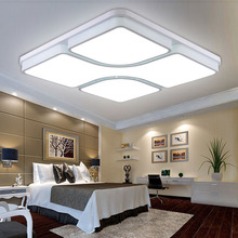 Modernas lámparas de techo Led para dormitorio sala de estar 24-54 W lámparas de techo de acrílico cuadrada hogar envío gratis