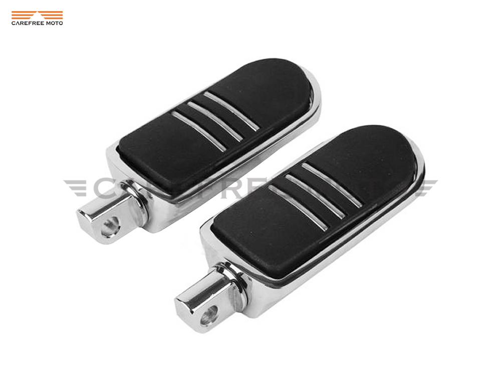 Chrome Motorcycle Footpeg Foot Peg Foot Rest Case for Harley Indian Chief Dyna Touring Softail Sportster 883 1200 V-Rod cnc chrome motorcycle foot pegs support foot rest male mount for harley sportster dyna softail cross bones v rod fatboy touring