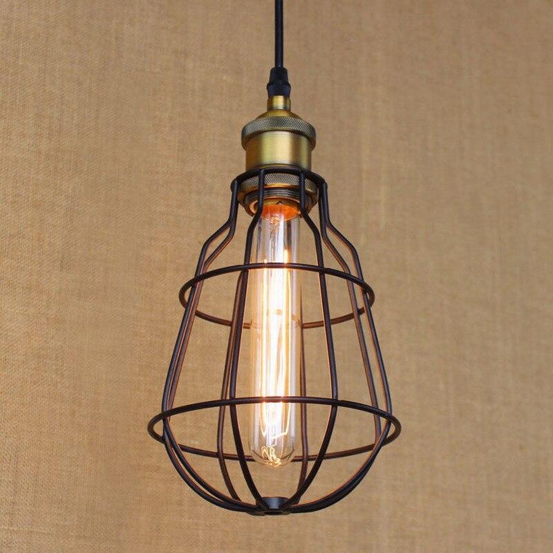 European style Hardware Lighting lights Loft vintage black ball pendant lamp illumination for font b kitchen