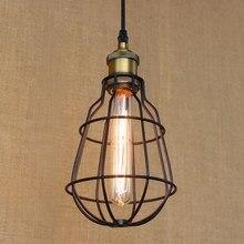 Estilo europeo luces de Iluminación del Desván de la vendimia de Hardware negro bola de la lámpara pendiente iluminación para la cocina/comedor/dormitorio/bar