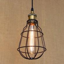 European style Hardware Lighting lights Loft vintage black ball pendant lamp illumination for kitchen dining room