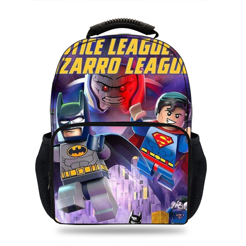 Cartoon DC Super Heroes Justice League printing Schoolbag for boys Girls laptop Casual Kids Schoolbag Mochila Students backpack in School Bags from Luggage Bags