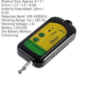 Image 2 - 100 2400 MHZ GSM Alarm Drahtlose Signal RF Detector Tracer Mini Kamera Finder Geist Sensor Gerät Radio Frequenz Überprüfen 1 stücke