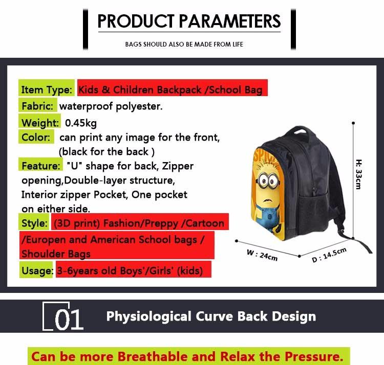 Kids-Gift-for-Boys-Girls-nylon-School-Bag-Finding--Nemo-pattern_01