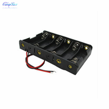 50Pcs 6xAA Battery Case Holder Socket Wire Junction Boxes  With 15cm Wires