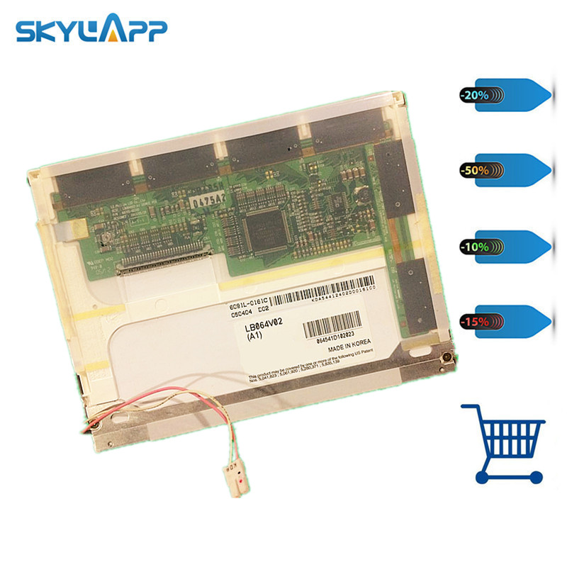 Skylarpu  6.4 inch LCD screen for LB064V02(A1) LB064V02-A1 industrial LCD display screen panel (without touch) Free shipping