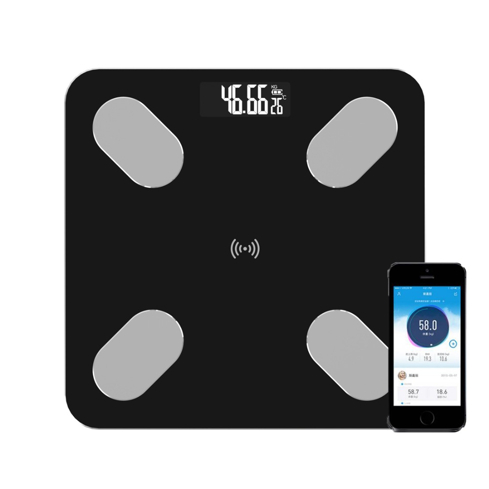 Bmi-Scale Body-Composition-Analyzer Digital Smartphone-App Body-Fat Bluetooth Bathroom