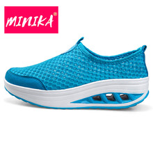 MINIKA New Arrival 2017 Flat Shoes Women Unique Design Breathable Casual Shoes Women Shallow Platform Shoes Women Slip-on Shoes