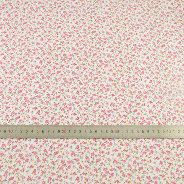 News Cotton Fabric Tissue Blue and Pink Flower Design Tecido Doll Home Textile Patchwork Scrapbooking Dolls Beginner's Practice