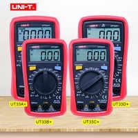 Multimètre de taille de paume de UNI-T UT33A + UT33B + UT33C + UT33D + multitesteur numérique avec capacité/NCV/test de Diode/sonnerie de continuité