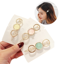 Get more info on the 4 Style Temperament Side Hair Clip Five-pointed Star Round Clips Bangs Clip Broken Sweet Wild Hairpin Hair Styling Accessories