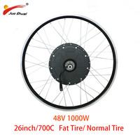 Powerful 48v 1000W Electric Bike Motor Wheel Electric Bicycle Fat Tire Brushless Hub Motor 26 700C 28inch Wheels Free Shipping