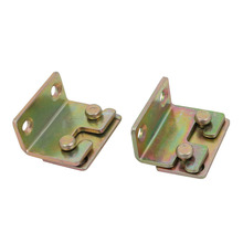 uxcell Iron, Zinc Plated 32mmx25mmx17mm Screw Fixed Bed Hinge Rail Brackets Connecting Fittings Bronze Tone 2 Sets Hot Sale