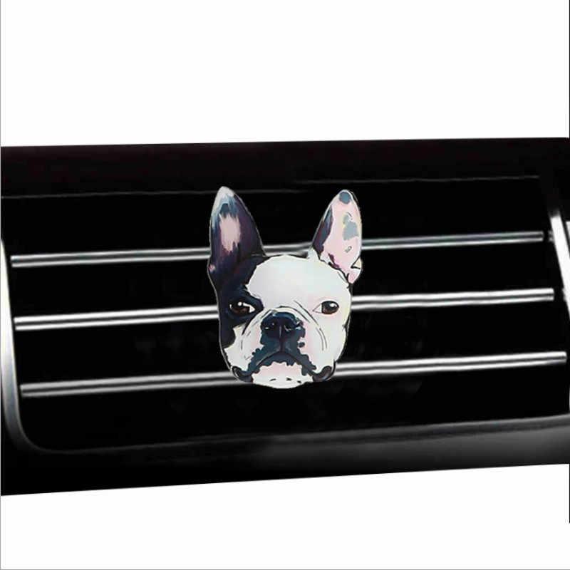 MR ÇAY Lüks Köpek Tarzı Akrilik Hava Spreyi Klima Çıkış Dekorasyon Parfüm Klip Koku Oto Iç Aksesuarları