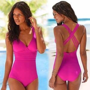1d4ba8adb6108 Women Vintage Bathing Suits 2017 Plus Size Swimwear One Piece Swimsuit