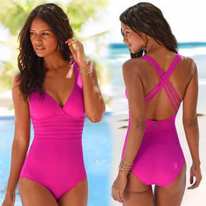Women Vintage Bathing Suits Plus Size Swimwear One Piece Swimsuit 2018