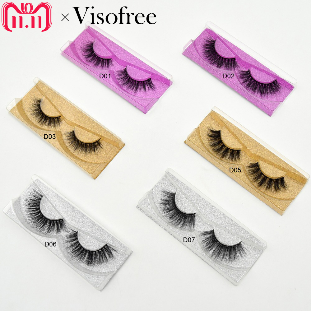 Visofree Mink Eyelashes 3D Mink Lashes Natural False Eyelashes cruelty free Mink Eyelashes Lightweight & Amazing Lashes 11 style цена