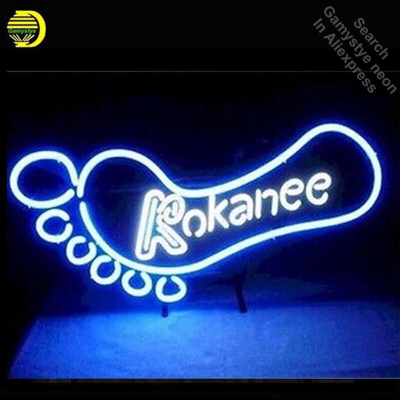 Enseigne au néon pour kokani bière néon Tube vintage Super lumineux signe artisanat lampe magasin affiche Tube verre néon lampe enseigne