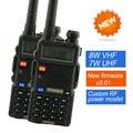 2 pcs baofeng uv-8hx ham radio dual band radio 136-174 mhz & 400-520 mhz baofeng uv5r rádio em dois sentidos handheld walkie talkie