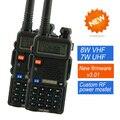 2 unids uv-8hx baofeng de radio de jamón de radio de doble banda 136-174 mhz y 400-520 mhz baofeng uv5r de mano de radio de dos vías walkie talkie