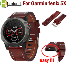 watch Strap For Garmin Fenix 5X/5X Plus 26mm easy fit Replacement Wrist Band Outdoor Sport Leather watchband 5x