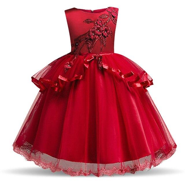 2b64c6d379518 Fancy Baby Girl Flower Dress for Wedding Gown Kids Tulle Dresses Girls  Children Christmas Party Teen