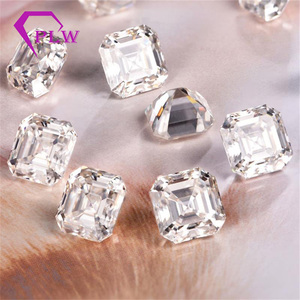 Image 2 - Provence jewelry Loose moissanite 2 carat 7*7 mm D color asscher cut test positive gem stone for bracelet  ring chain earring