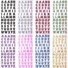2 листа 26 буквы английского алфавита ПВХ блестящая наклейка для поделок ручной работы Скрапбукинг наклейка украшение детский дневник Подарочная наклейка s
