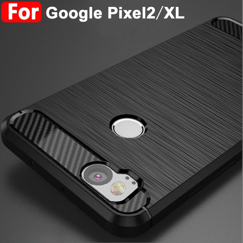 various colors ee0ae 7649d US $4.99 |For Google Pixel 2 case Black soft Wiredrawing TPU cover For  Google Pixel 2 XL case Carbon Fiber Style Google Pixel2 case cover-in ...