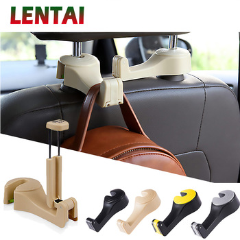 LENTAI 1PC Car Back Seat Storage Hook & Mobile Phone For Mercedes W205 W203 W211 Volvo XC90 S60 XC60 S80 V40 Alfa Romeo 159 156 image