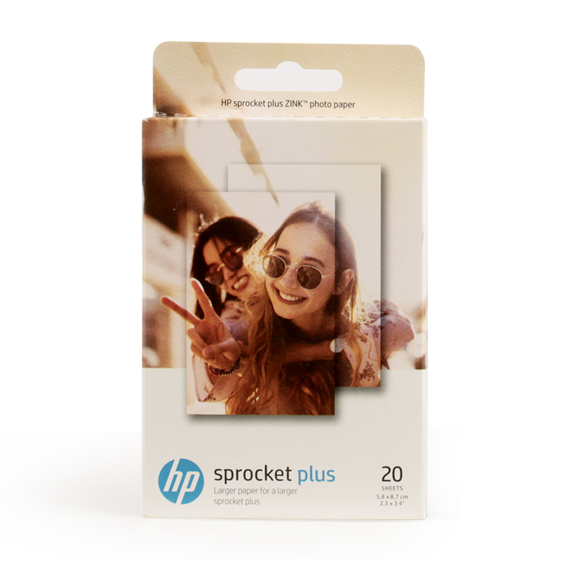 2 boxes (40 sheets) pocket Sprocket plus mobile photo printing paper ZINK photo paper 5.8*8.6cm Printer photographic paper