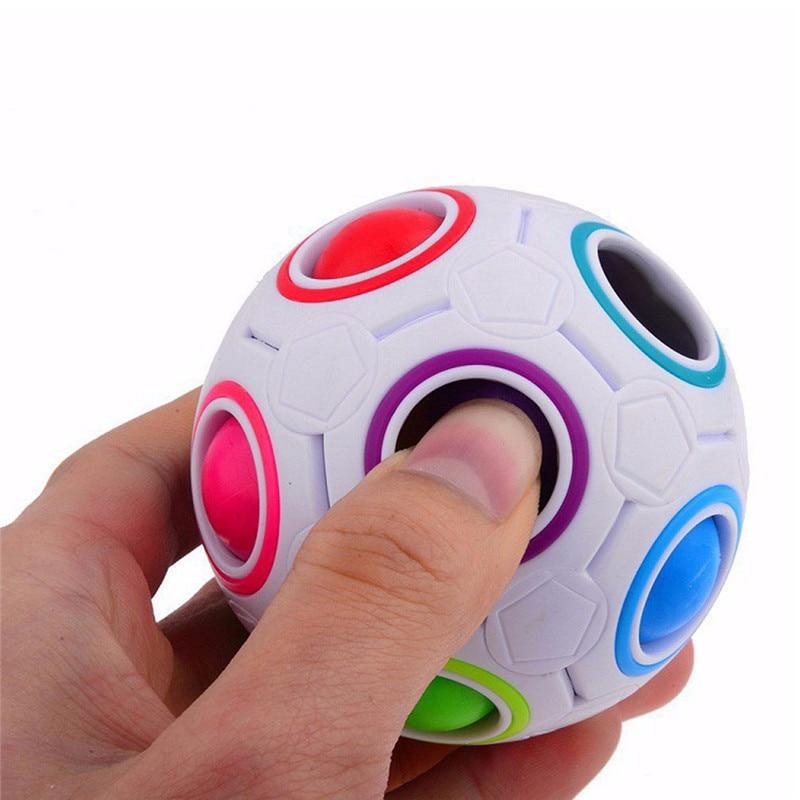 New Strange-shape Magic Cube Toy Desk Toy Anti Stress Rainbow Ball Football Puzzles Stress Reliever(China)