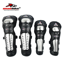 Madbike motorcycle elbow and knee pads Protective Gear stainless steel protection motorcycle racing motocross knee pads