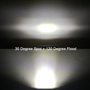 """Image 3 - 4 """"7"""" 12 """"20 Polegada led barra de luz para rc carro 4x4 fora da estrada 4wd caminhão atv 12v 24v reboque da motocicleta combo offroad trabalho barra luzes"""